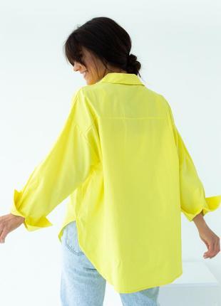 Хлопковая свободная стильная рубашка 20214 фото