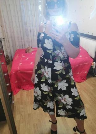 Платье, сарафан с цветами
