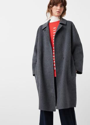 Mango oversize шерстяное пальто ручной работы