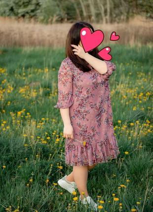 Лёгкое, летнее , нарядное платьев в цветочек 48-50 размер
