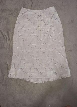 Летняя женская юбка миди