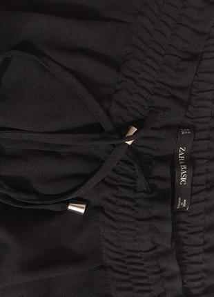 Штаны свободные zara basic5 фото