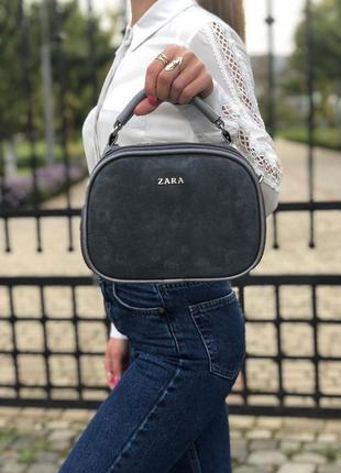 Новая сумка кросс-боди с натуральной замшей