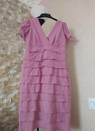 Платье розово пудровое