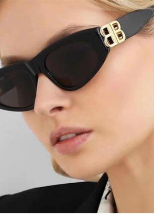 Очки солнцезащитные женские  в стиле ретро, винтажные солнечные очки «кошачий глаз»