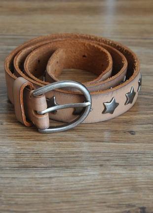 Кожаный ремень sam brown / шкіряний ремінь