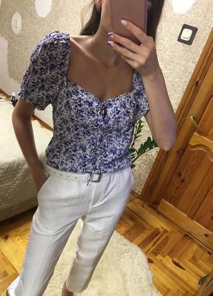 Шикарная блуза-бюстье h&m