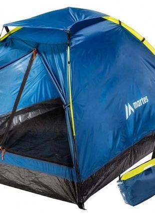 Палатка туристическая намет 2-місний martes tentino ii 215x150x110 cм синій mts_tentino2