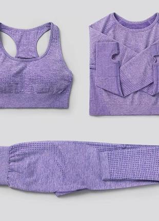 Новый!!! набор для фитнеса/ спортивный костюм, утягивающий, размер s