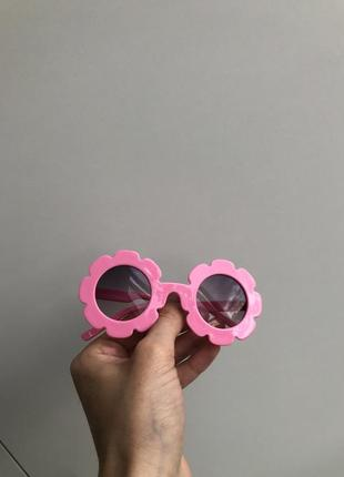 Окуляри дитячі , очки детские , окуляри сонцезахисні , очки солнцезащитные для девочки, розовые очки, рожеві окуляри