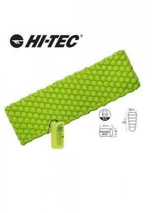 Коврик туристический надувной надувний килимок hi-tec airmat 190x60 зелений ht-airmat190-green
