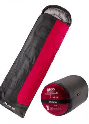 Спальный мешок туристический спальний мішок martes ourens 220 чорний з червоним mts-ourens-red