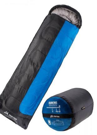 Спальный мешок туристический спальний мішок martes ourens 220 чорний з cинім mts-ourens-blue