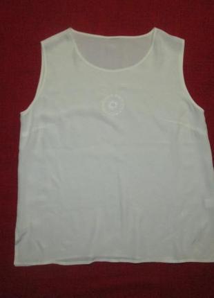 Шелковая блуза в стиле versace майка топ 100% шелк