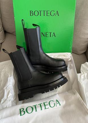 Челси ботинки bottega veneta оригинал чёрные боттега женские