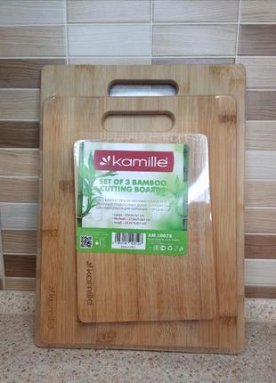 Набір бамбукових дошок для нарізання.