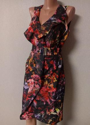 Фирменное прямое миди платье m/ brend karen millen