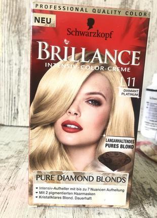 Стойкая крем краска для волос тон л11 диамантовый платиновый