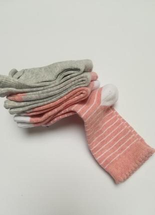 Набір високих бавовняних носочків для дівчинки 4 шт. lupilu розмір 23-26