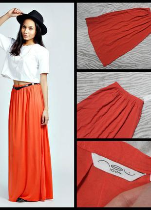 New look.яркая юбка в пол.100% вискоза.