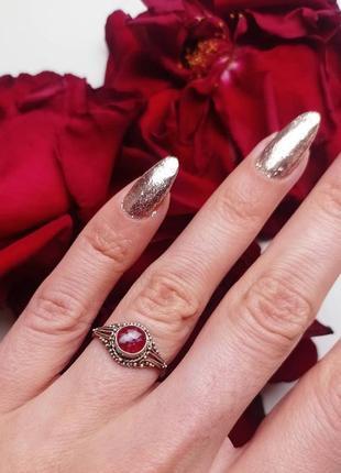 Серебряное 925 кольцо в стиле жтнг бохо