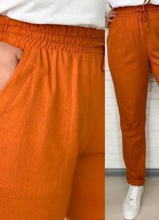 Льняные легкие брюки