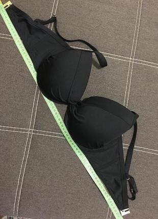Чёрный верх бюстгальтер от купальника бюст на косточках,чашка c6 фото