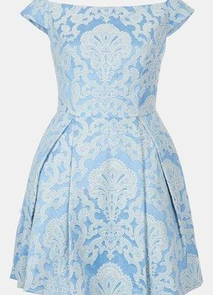 Распродажа!!! нарядное праздничное коктейльное жаккардовое платье №521 topshop