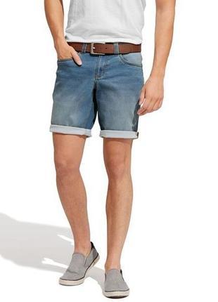 Голубые джинсовые шорты, бермуды на резинке, xl 52 euro, livergy, германия