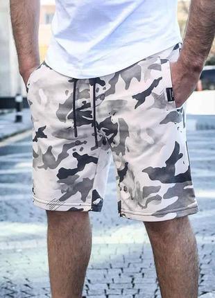 Мужские трикотажные шорты камуфляжные|100% хлопок