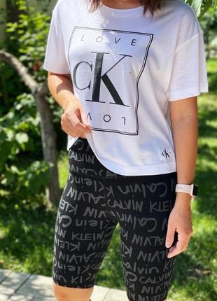Calvin klein костюм футболка велосипедки шорты