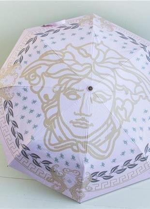 Жіноча брендова парасолька напівавтомат в кольорах білий