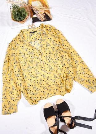 Женская рубашка летняя, легкая рубашка с цветочным принтом, рубашка большого размера