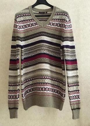 Шерстяной свитер с орнаментом refektory london