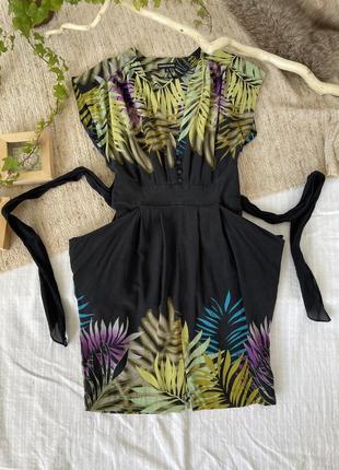 Платье летнее, шелк, сарафан