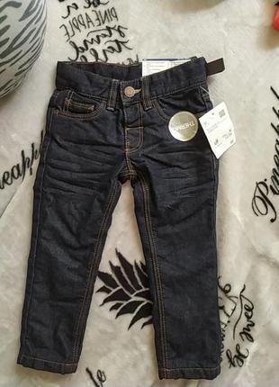 Шикарные джинсы на флисе, унисекс. с бирками