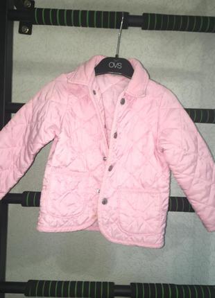 Стёганный пиджак на девочку 92-104