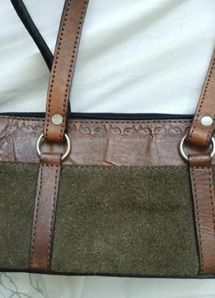 Кожанная сумочка2 фото