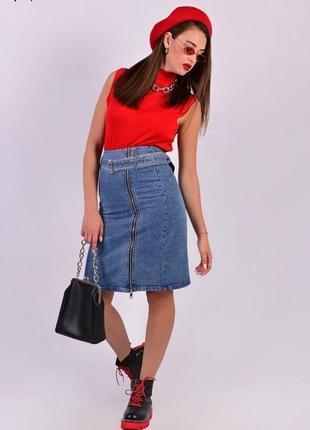 Юбка джинсовая2 фото