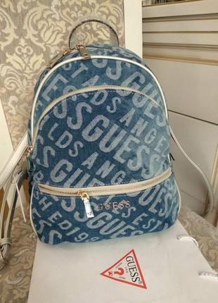 Женский оригинальный джинсовый рюкзак guess manhattan maxi , новый в наличии