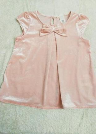 Розовая бархатистая кофточка h&m