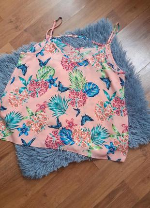 Блуза в квітковий принт 1+1=3