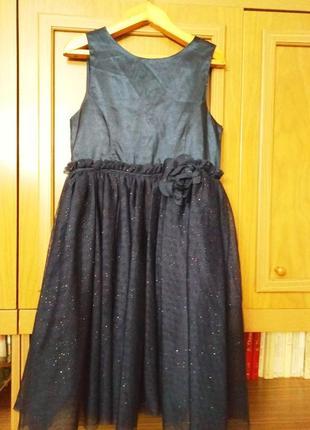 Пышное платье h&m для девочки с блестками