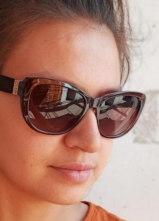 Стильные итальянские коричневые очки кошки очки лисички