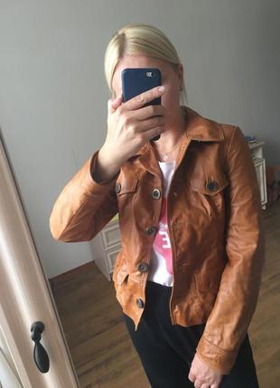 Куртка натуральна шкіра кожанка курточка винтаж вінтаж