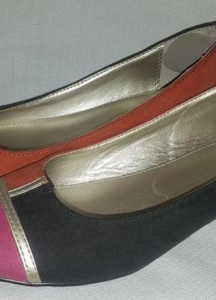 Стильные фирменные туфли-балетки liz claiborne(сша),размер 37-37,5