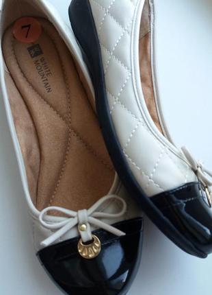 Комфортные туфли-балетки white montain(сша),размер 37