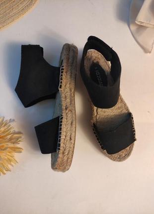 Эспадрильи h&m 23,5 стелька сандалии