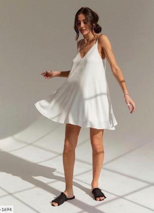 Свободное легкое платье разлетайка