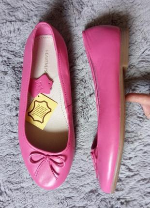 Яркие кожаные  балетки heavenly soles